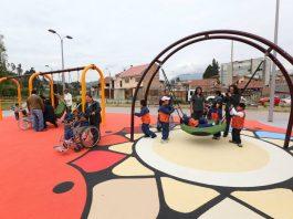 Los parques inclusivos son ya habituales en muchas ciudades.